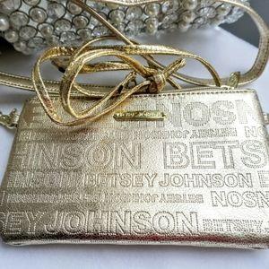 Betsy Johnson gold purse